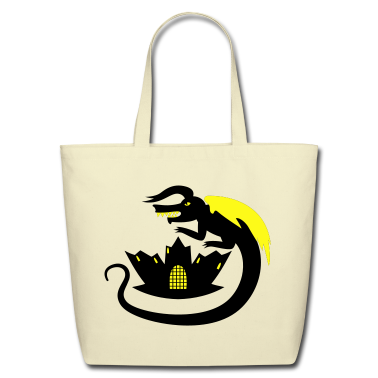 evil castle black dragon Bags