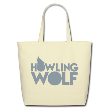 HOWLING WOLF wolves howling at the moon silver Bags