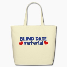 blind date material with hearts Bags