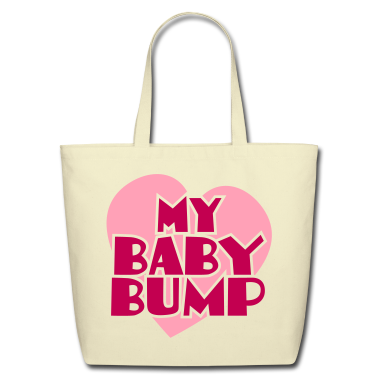 my baby bump pregnancy shirt Bags