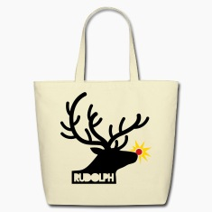 rudolph with light on is nose REINDEER Bags