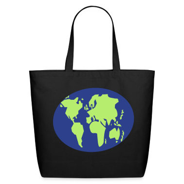 simple simple world map GLOBE Bags