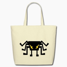 cute digital spider Bags