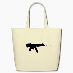 digital gun firing rectangle bullets Bags