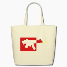 simple digital gun design gamer Bags