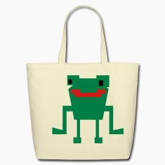 happy digital frog  Bags