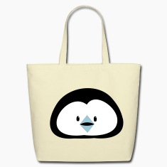 penguin face way too cute!  Bags