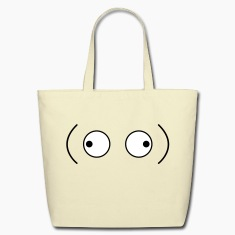 crazy googly eyes looking outwards Bags