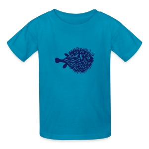 t-shirt fish swarm puffer fish blowfish pregnant hunt hunter ocean hunting fishing - Kids' T-Shirt