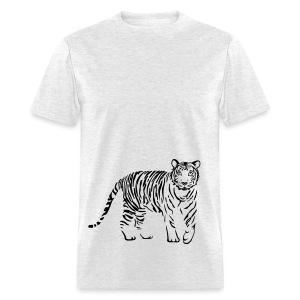 t-shirt tiger cat cheetah lion wild predator hunter hunting - Men's T-Shirt