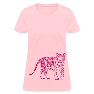 t-shirt tiger cat cheetah lion wild predator hunter hunting - Women's T-Shirt