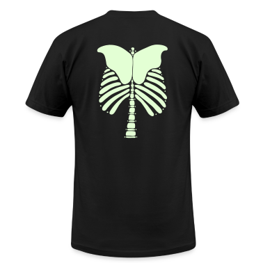 Skeleton Bones Glow in the Dark: Front & Back Men's T-Shirt