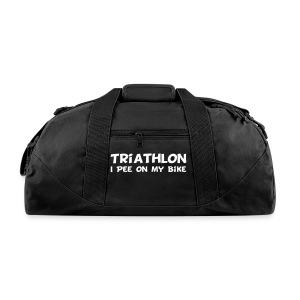 Triathlon I Pee On My Bike Duffel Bag - Duffel Bag