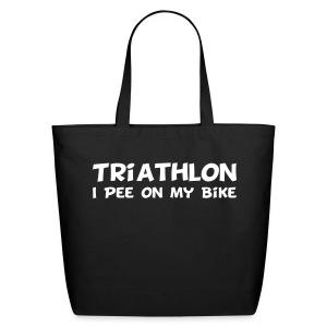 Triathlon I Pee On My Bike Tote Bag - Eco-Friendly Cotton Tote