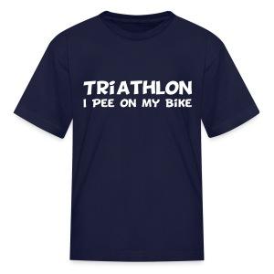 Triathlon I Pee On My Bike Kids Tee - Kids' T-Shirt