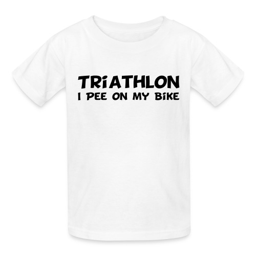 Triathlon I Pee On My Bike Kids Tee - Kids' T-Shirt