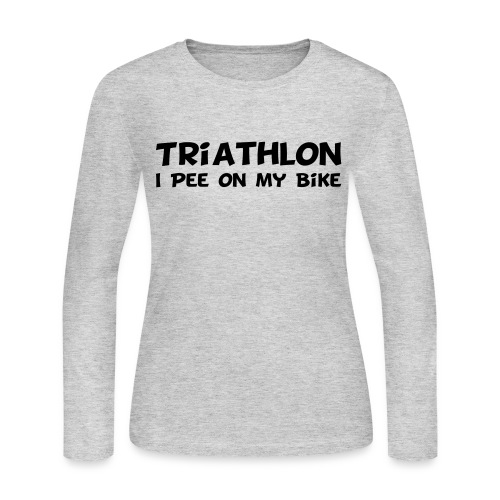 Triathlon I Pee On My Bike Women's Long Sleeve Tee - Women's Long Sleeve Jersey T-Shirt