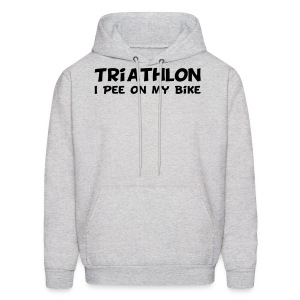 Triathlon I Pee On My Bike Men's Hoodie - Men's Hoodie