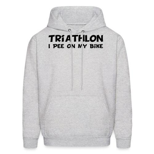 Triathlon I Pee On My Bike Men's Hoodie - Men's Hoodie