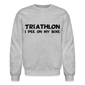 Triathlon I Pee On My Bike Men's Sweatshirt - Crewneck Sweatshirt