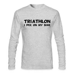 Triathlon I Pee On My Bike Men's Long Sleeve Tee - Men's Long Sleeve T-Shirt by Next Level