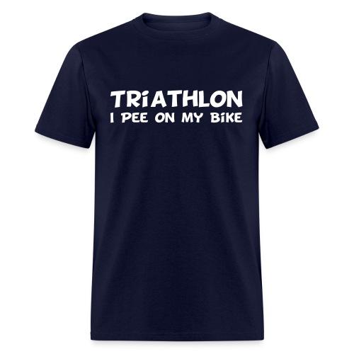Triathlon I Pee On My Bike Men's Tee - Men's T-Shirt