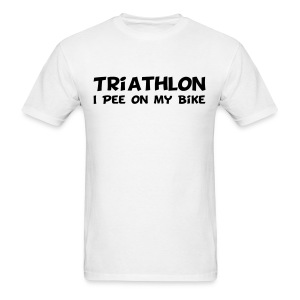 Triathlon I Pee On My Bike Men's Tee - Men's T-Shirt