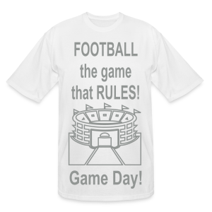 Football The Game That Rules - Men's Tall T-Shirt