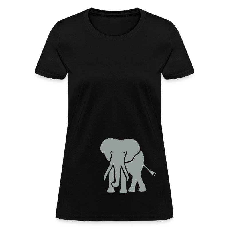 t-shirt elephant trunk ivory afrika serengeti - Women's T-Shirt