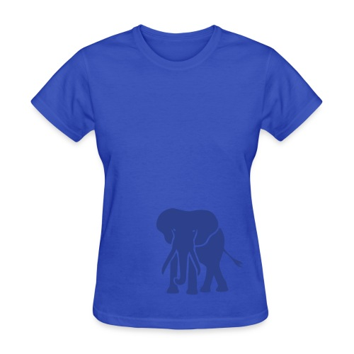 t-shirt elephant trunk ivory afrika serengeti - Women's T-Shirt