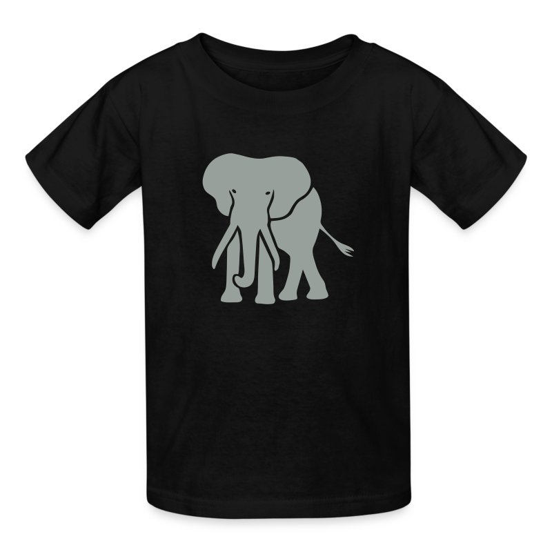 t-shirt elephant trunk ivory afrika serengeti - Kids' T-Shirt