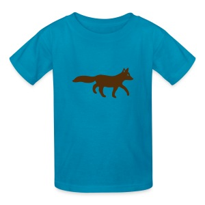 t-shirt fox foxy tod readhead game hunter hunting - Kids' T-Shirt