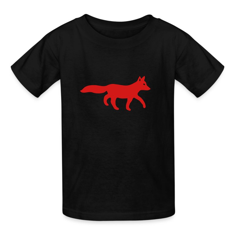 t-shirt fox foxy tod readhead game hunter hunting - Kids' T-Shirt