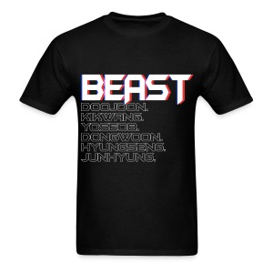 BEAST - 3D Text - Men's T-Shirt