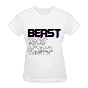 BEAST - 3D Text - Women's T-Shirt