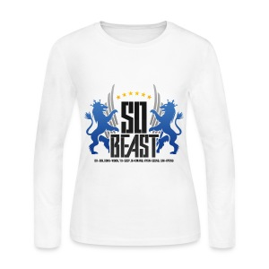 BEAST - SO BEAST (Color/Blue) - Women's Long Sleeve Jersey T-Shirt