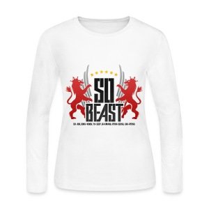 BEAST - SO BEAST (Color/Red) - Women's Long Sleeve Jersey T-Shirt