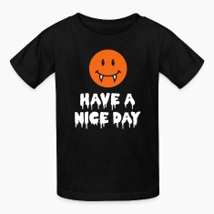 Happy Vampire Halloween Smiley Kids' Shirts