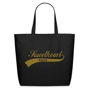 Alpha Sweetheart Script Tote - Eco-Friendly Cotton Tote