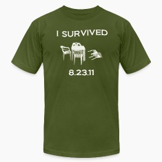 East Coast Earthquake: I Survived 8.23.11 T-Shirts