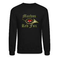 Long Sleeve Shirts ~ Crewneck Sweatshirt ~ Machus Red Fox