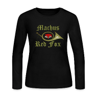Long Sleeve Shirts ~ Women's Long Sleeve Jersey T-Shirt ~ Machus Red Fox
