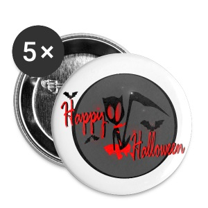 happy halloween horror art Small Buttons - Small Buttons