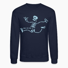 Skeleton Running Away Long Sleeve Shirts