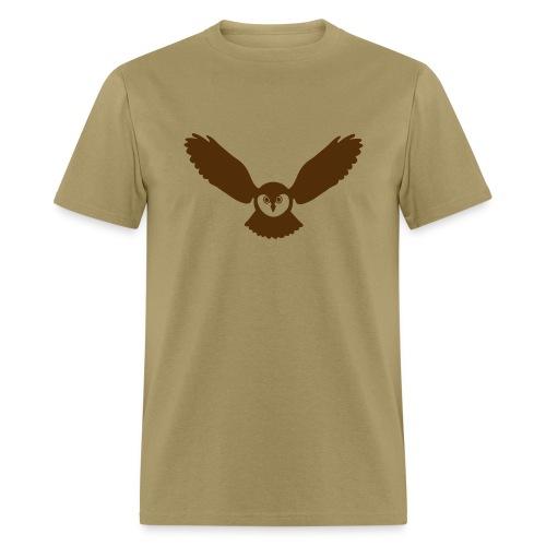 t-shirt owl owlet wings feather hunter night hunt - Men's T-Shirt