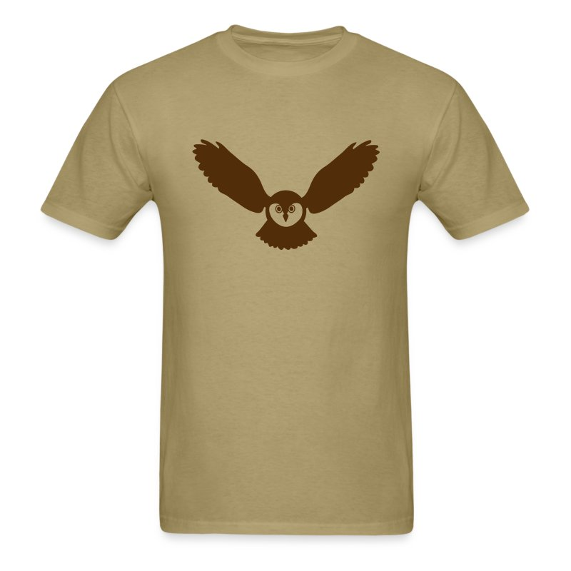 t-shirt owl owlet wings feather hunter night hunt - Men's T-Shirt