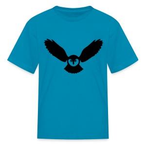 t-shirt owl owlet wings feather hunter night hunt - Kids' T-Shirt