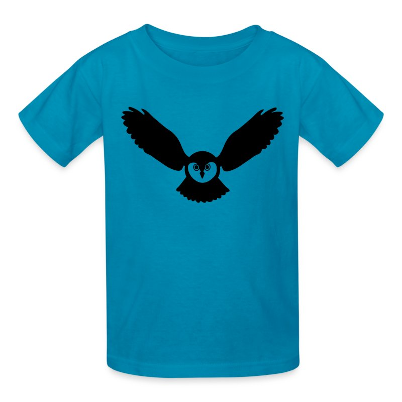 t-shirt owl owlet wings feather hunter night hunt - Kids' T-Shirt