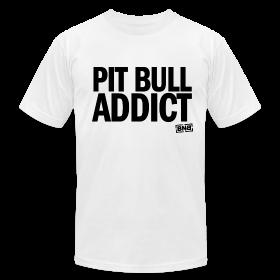 Pit Bull Addict Men's Tee (White) ~ 316