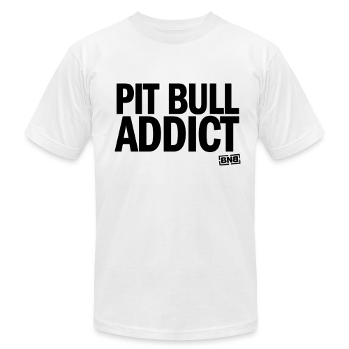 Pit Bull Addict Men's Tee (White) - Men's T-Shirt by American Apparel